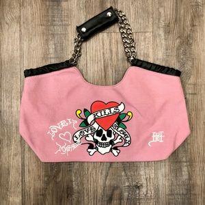 Pink Ed Hardy Bag